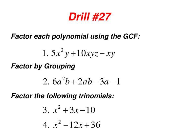 Drill #27