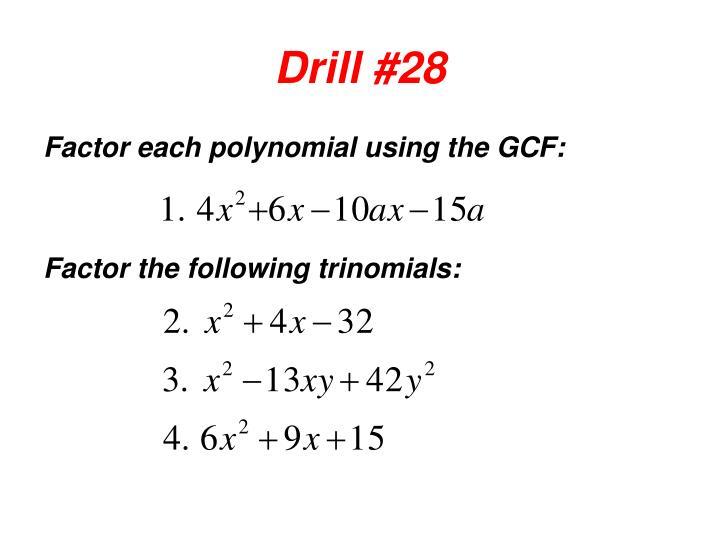 Drill #28
