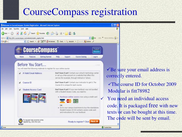 CourseCompass registration