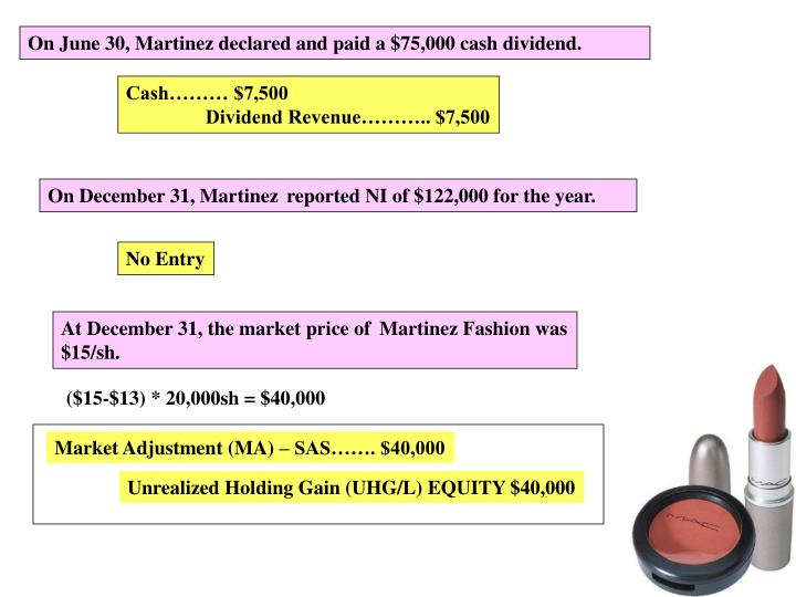 On June 30, Martinez declared and paid a $75,000 cash dividend.