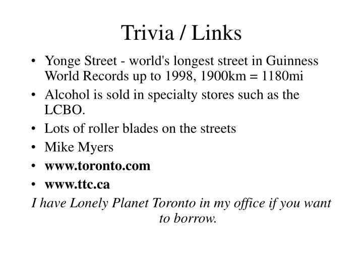 Trivia / Links