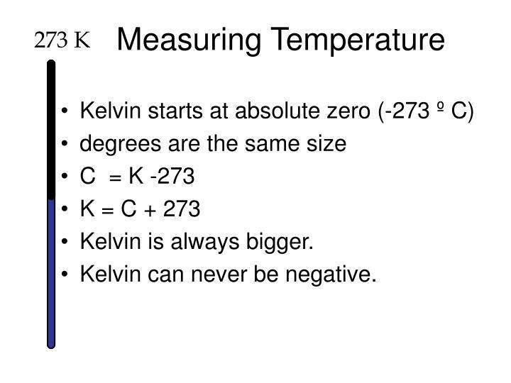 Measuring Temperature