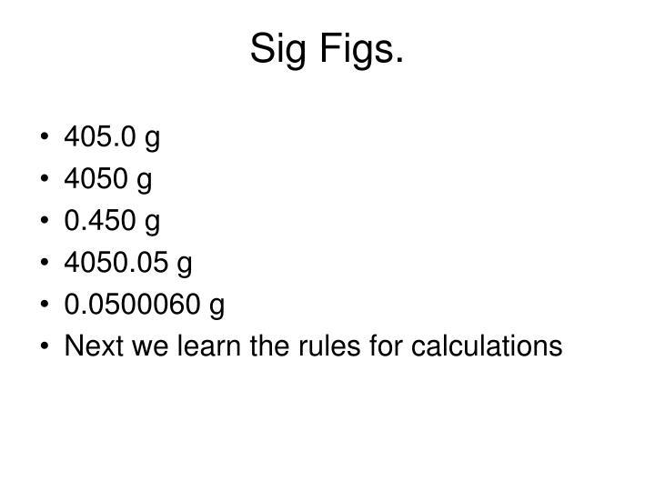 Sig Figs.