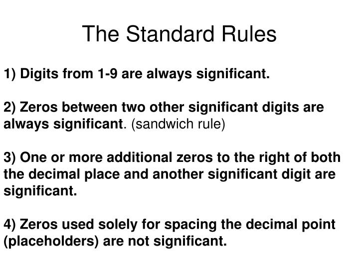 The Standard Rules