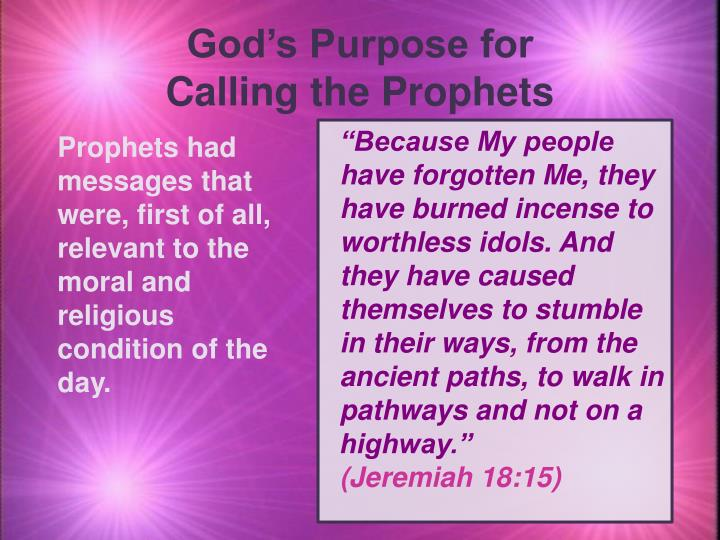 God's Purpose for