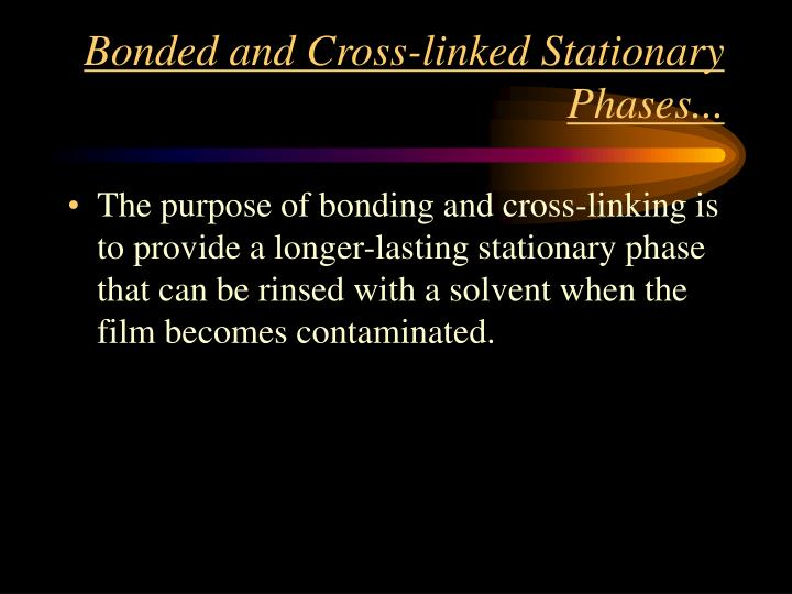 Bonded and Cross-linked Stationary Phases...