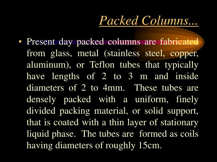 Packed Columns...