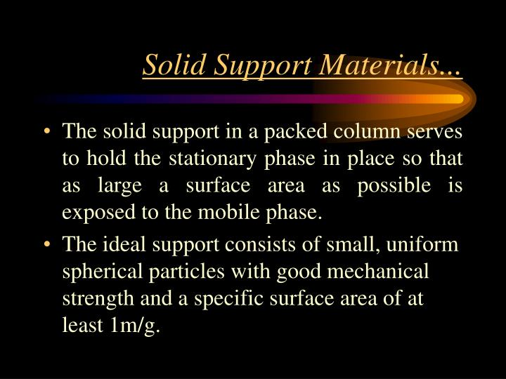 Solid Support Materials...