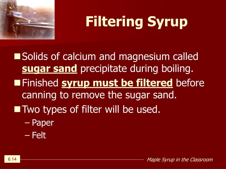 Filtering Syrup