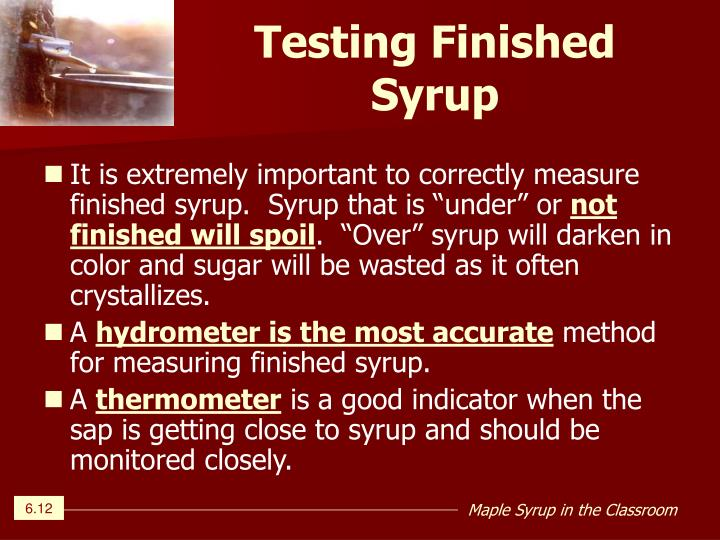 Testing Finished Syrup