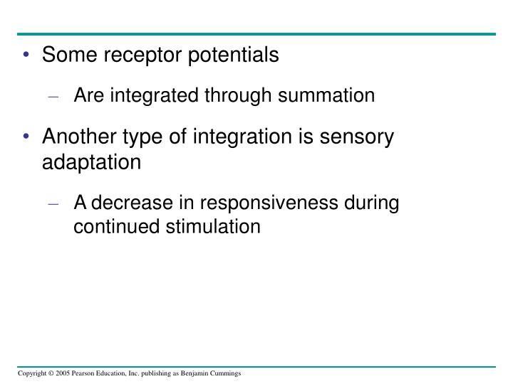 Some receptor potentials