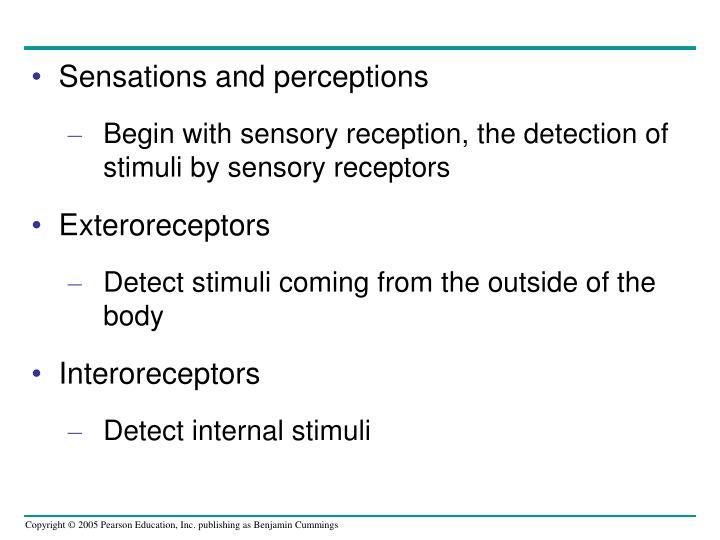 Sensations and perceptions