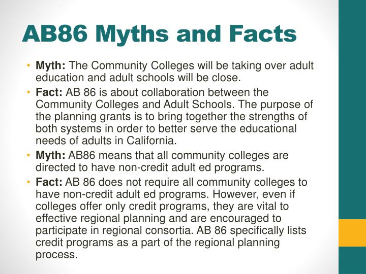 AB86 Myths and Facts