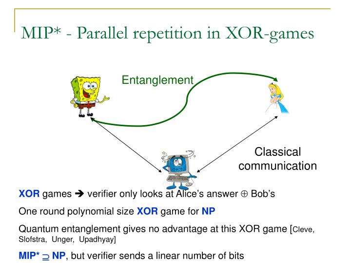 MIP* - Parallel repetition in XOR-games