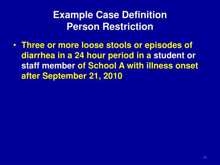 Example Case Definition