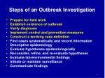 steps of an outbreak investigation1
