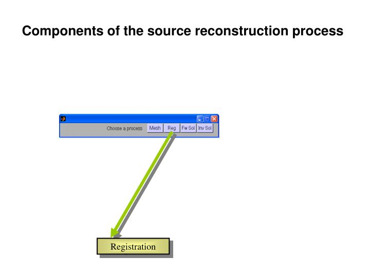 Components of the source reconstruction process