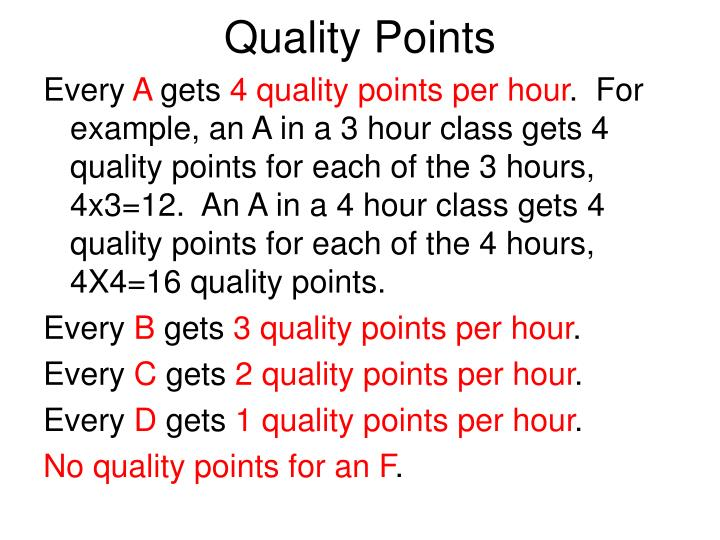 Quality Points
