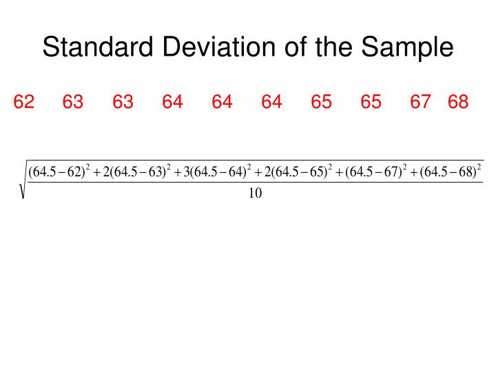 Standard Deviation of the Sample