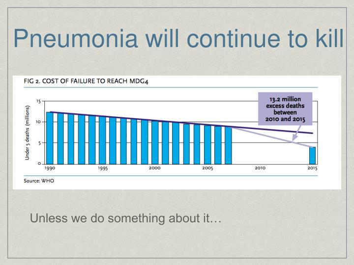Pneumonia will continue to kill