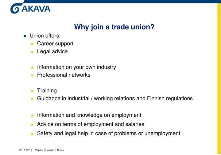 Why join a trade union?