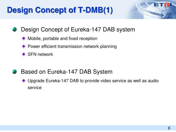 Design Concept of T-DMB(1)