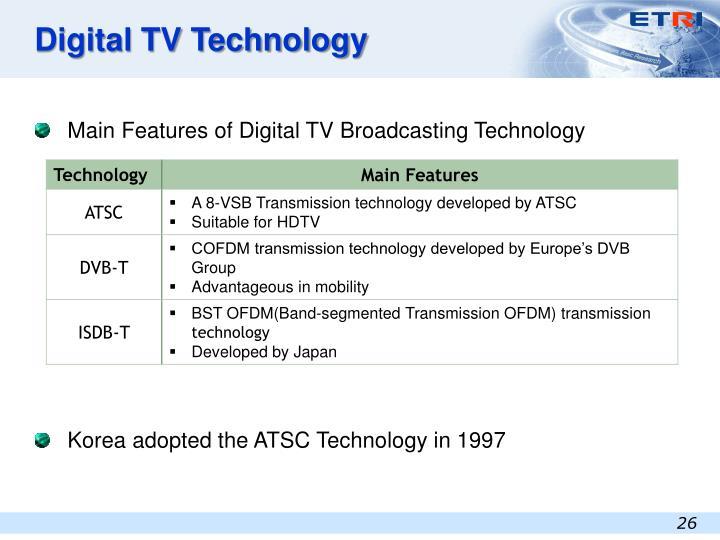 Digital TV Technology