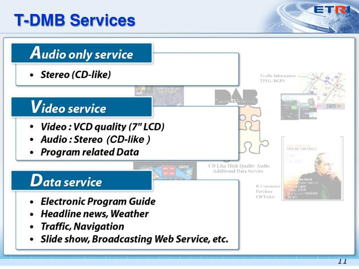 T-DMB Services
