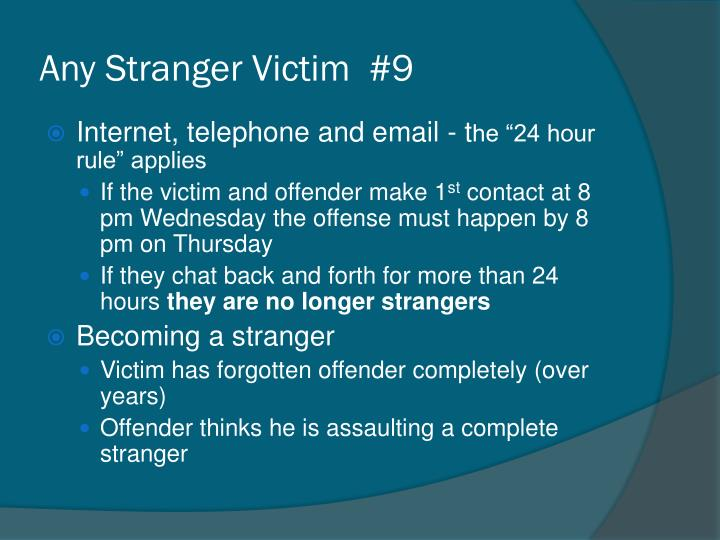 Any Stranger Victim  #9