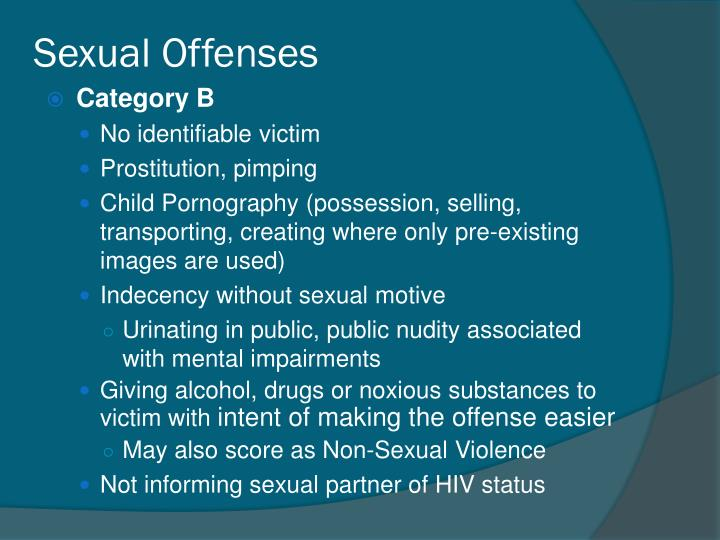 Sexual Offenses