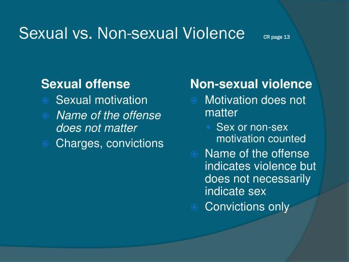 Sexual vs. Non-sexual Violence