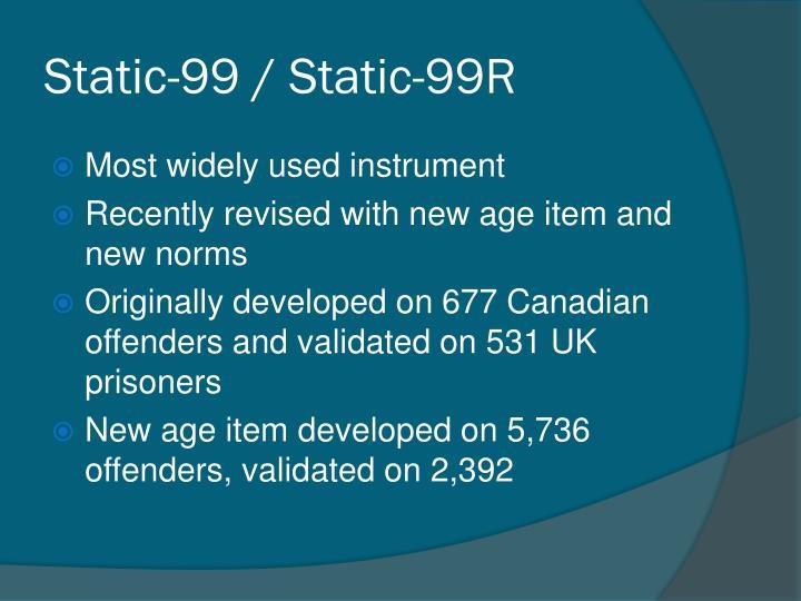 Static-99 / Static-99R