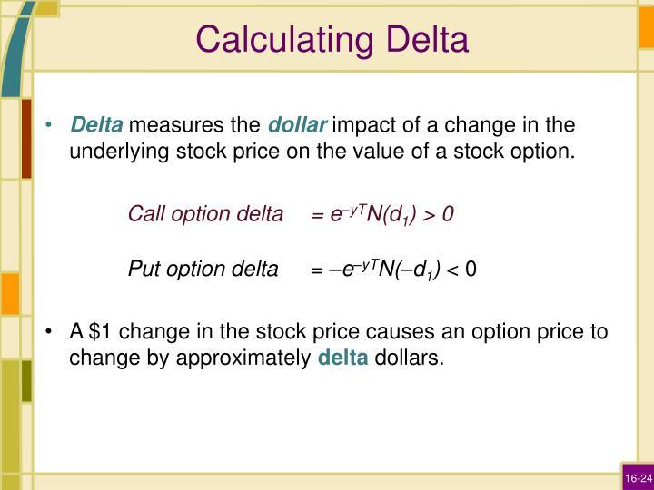 Calculating Delta