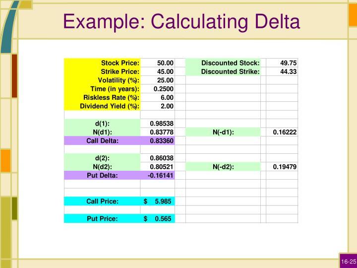 Example: Calculating Delta