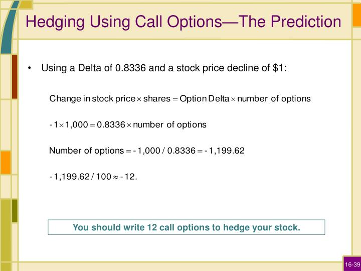 Hedging Using Call Options—The Prediction