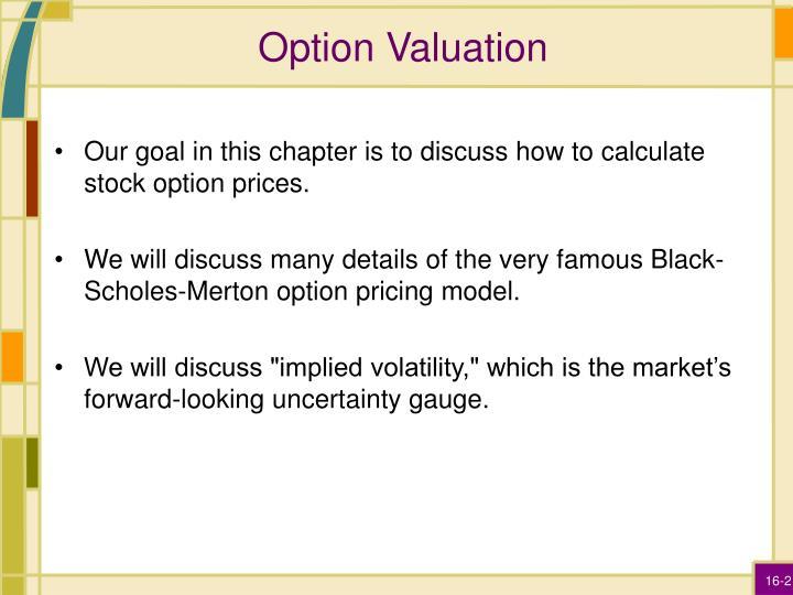 Option Valuation