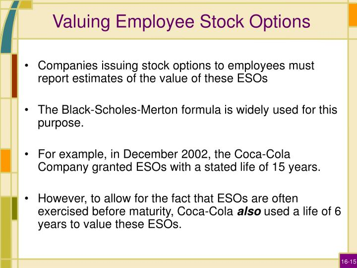 Valuing Employee Stock Options