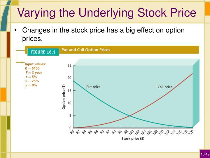 Varying the Underlying Stock Price