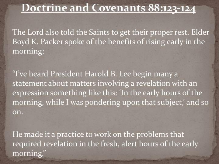 Doctrine and Covenants 88:123-124