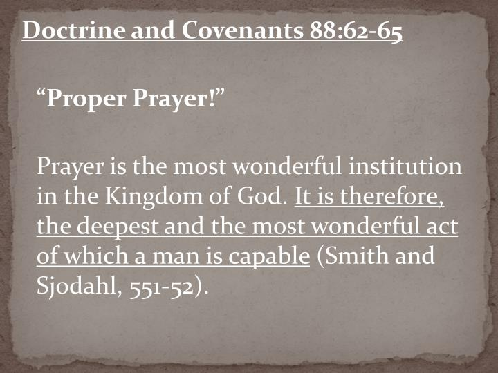 Doctrine and Covenants 88:62-65