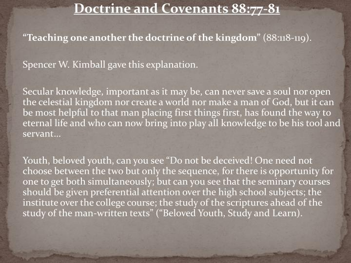 Doctrine and Covenants 88:77-81