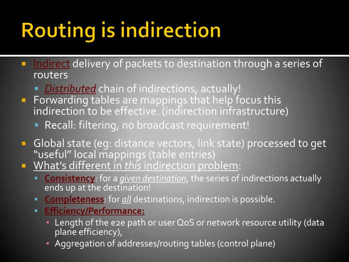 Routing is indirection