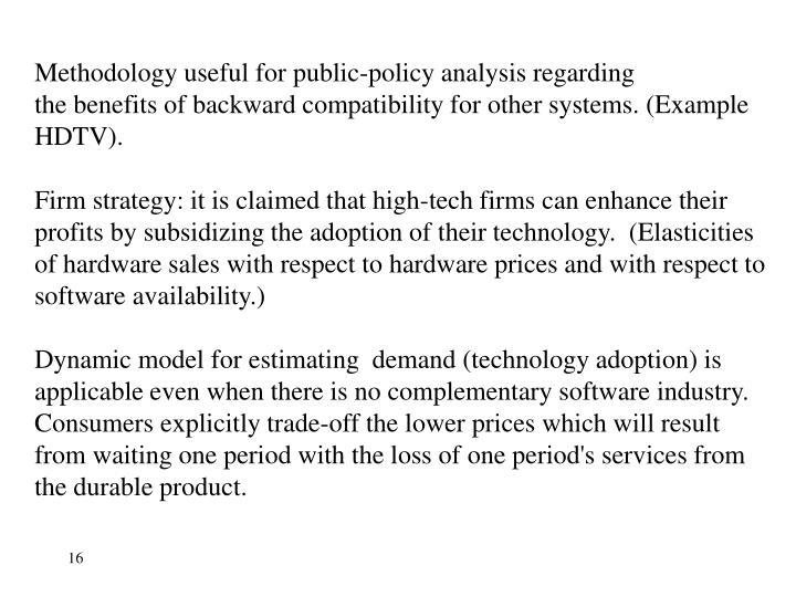 Methodology useful for public-policy analysis regarding