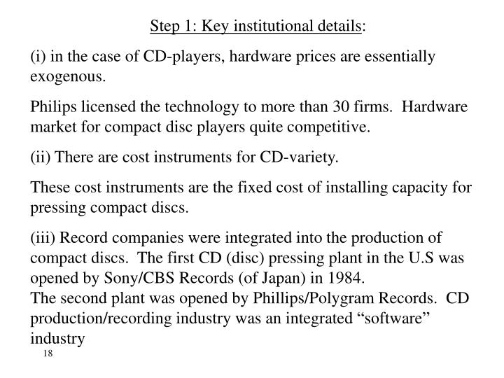 Step 1: Key institutional details