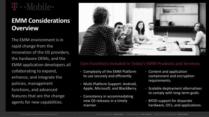 EMM Considerations Overview