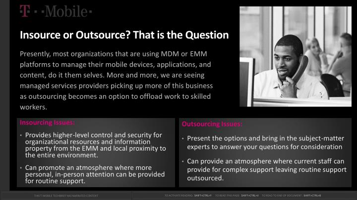 Insource or Outsource? That is the Question