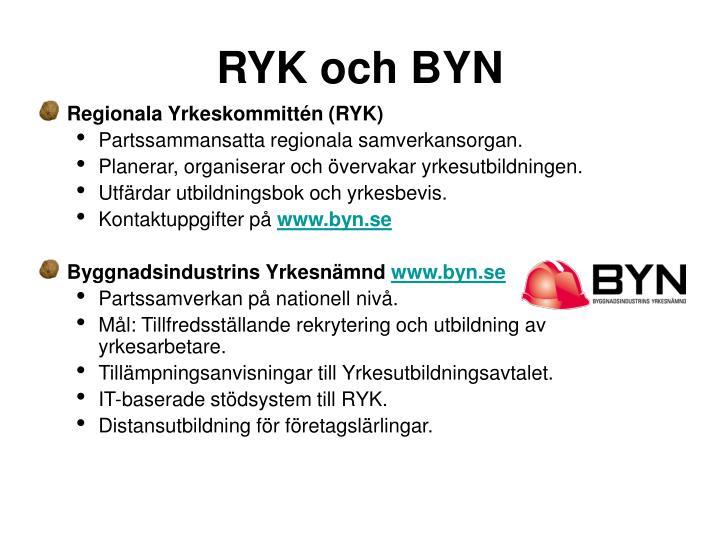 RYK och BYN