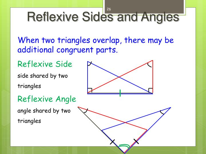 Reflexive Sides and Angles