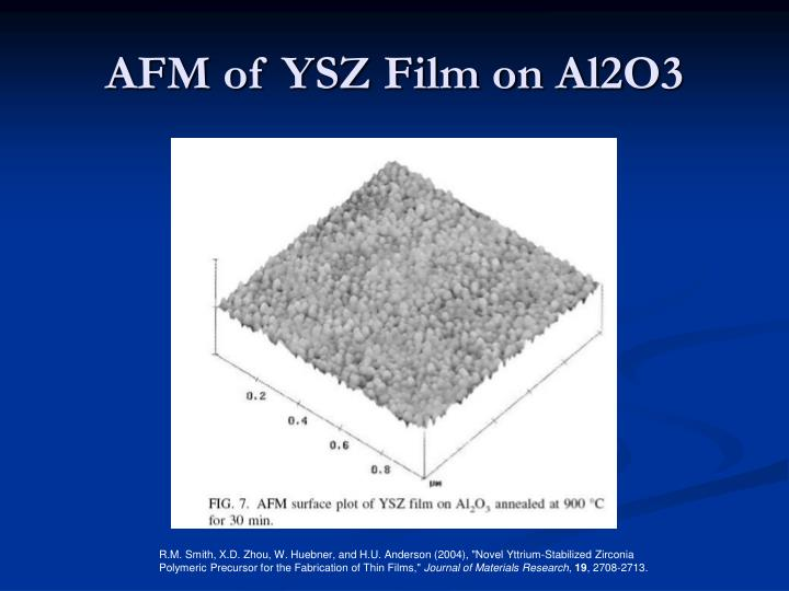 AFM of YSZ Film on Al2O3