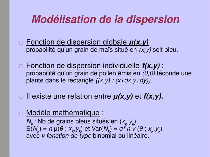 Fonction de dispersion globale